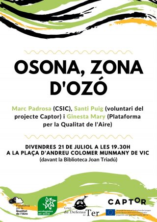 Xerrada i exposició sobre la contaminació per ozó a la Plana de Vic